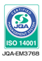 ISO 14001取得 JQA-EM3768
